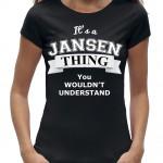 Shirt zwart dames jansen thing