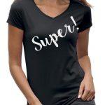 Super t-shirt dames IT shirt zwart
