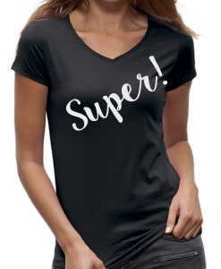 Super t-shirt dames IT shirt zwart