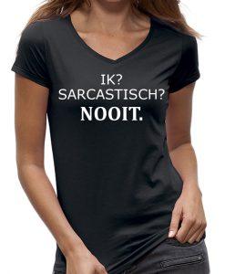 Sarcastisch nooit t-shirt