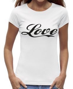 Love t-shirt wit dames