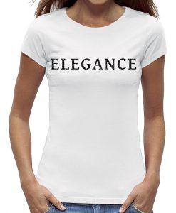 Elegance t-shirt zwart glitter dames