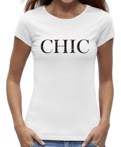 t-shirt Chic wit shirt zwart letter dames