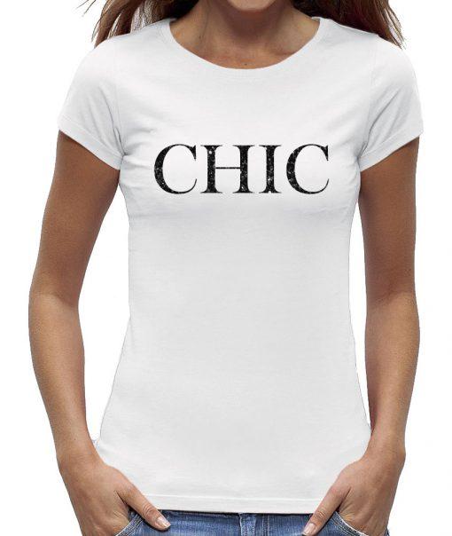 t-shirt Chic wit shirt zwart letter dames