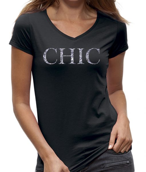 T-shirt Chic dames zwart