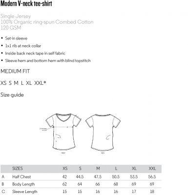 Pasvorm v-hals t-shirt dames