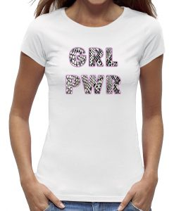 Girl power t-shirt wit dames - vrouwen