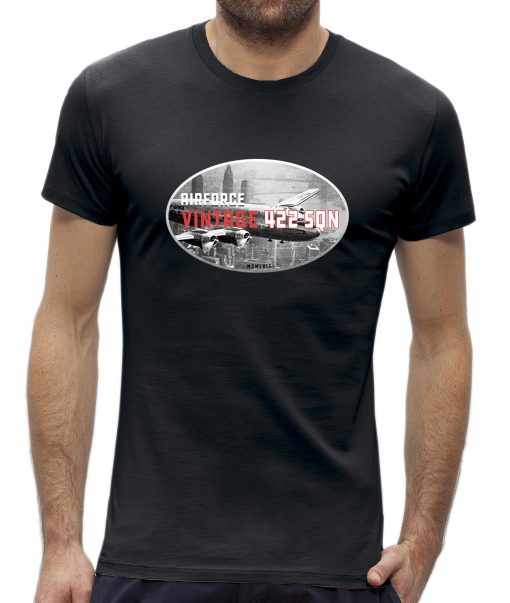 t-shirt heren retro vintage vliegtuig airplane