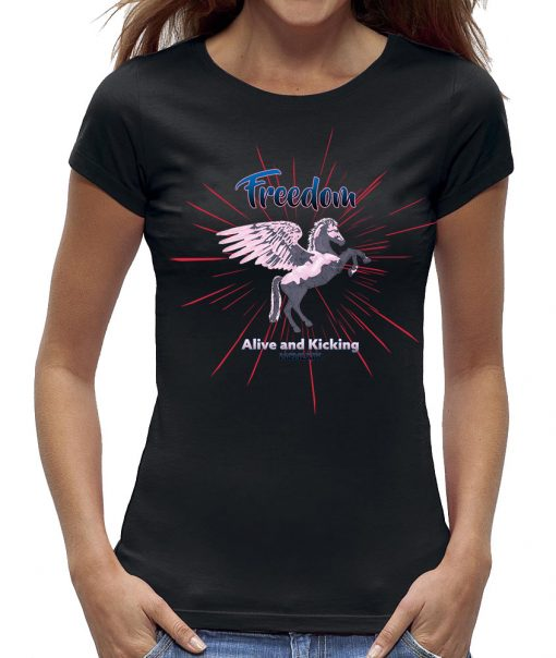 Pegasus freedom - alive and kicking t-shirt - zwart