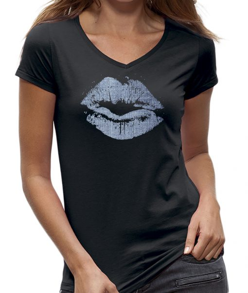 T-shirt lips - lippen kiss jeans