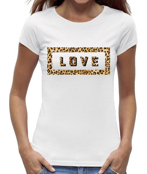 Love wild luipaardprint t-shirt