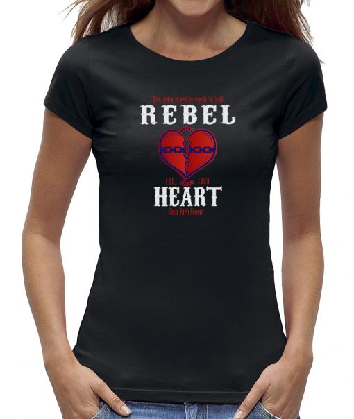 Rebel heart t-shirt chain rock and roll