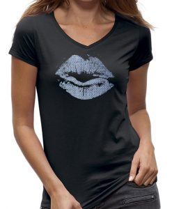 T-shirt-lips- lippen-kiss-jeans