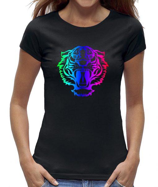 Tijger t-shirt kenzo look in regenboog kleuren