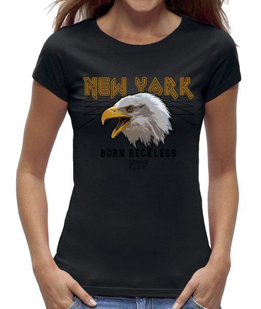 Eagle t-shirt born reckless zwart