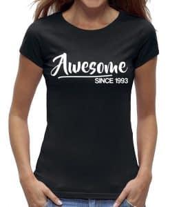 30 jaar t-shirt vrouw verjaardag awesome