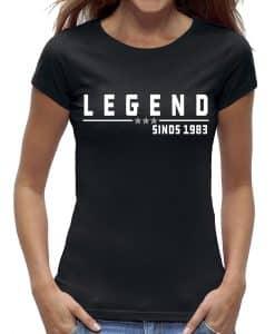 40 jaar t-shirt vrouw legend verjaardag