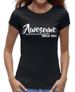 40 jaar t-shirt vrouw verjaardag awesome