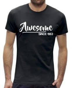 60 jaar t-shirt man verjaardag awesome