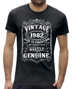 Perfection 40 jaar verjaardag t-shirt man