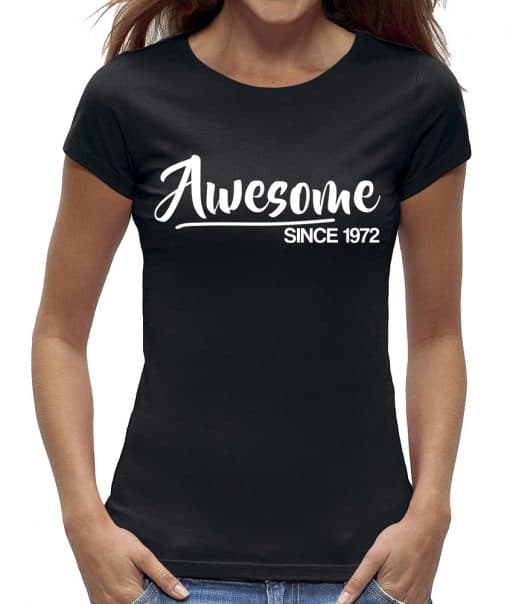 Sarah 50 jaar t-shirt vrouw verjaardag awesome
