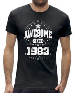 Awesome stars 40 jaar t-shirt verjaardag 1980