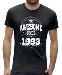 Awesome stars 30 jaar t-shirt verjaardag 1990