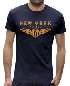 T-shirt New York vintage Dark Navy man