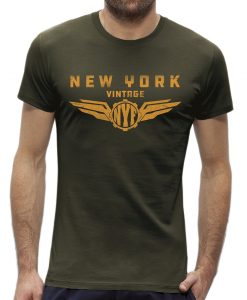 T-shirt New York vintage Khaki man