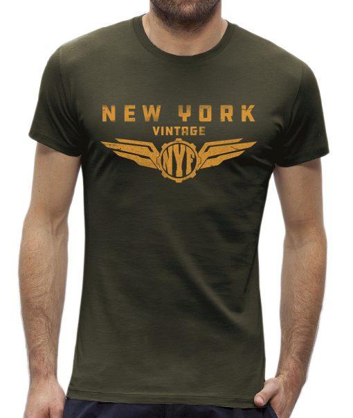 T-shirt New York vintage Khaki man