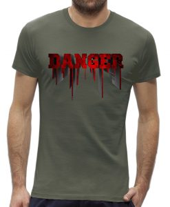 Danger t-shirt man heren Khaki