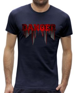 Danger t-shirt man heren Navy