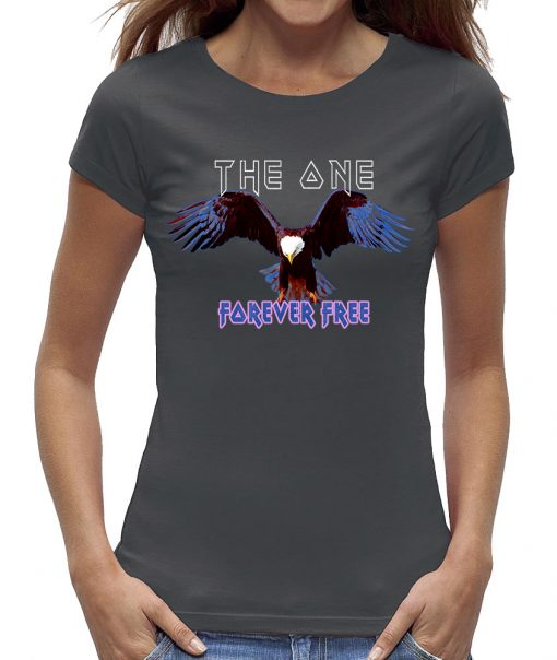 Eagle t-shirt the one forever free grijs