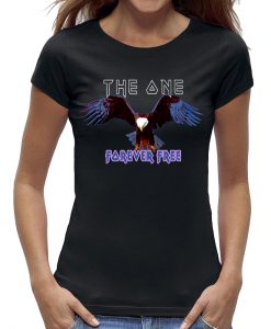 Eagle t-shirt the one forever free zwart