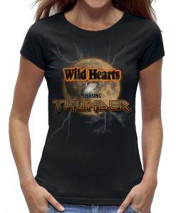 T-shirt vrouwen wild hearts chasing thunder