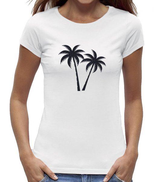 Palmboom t-shirt wit